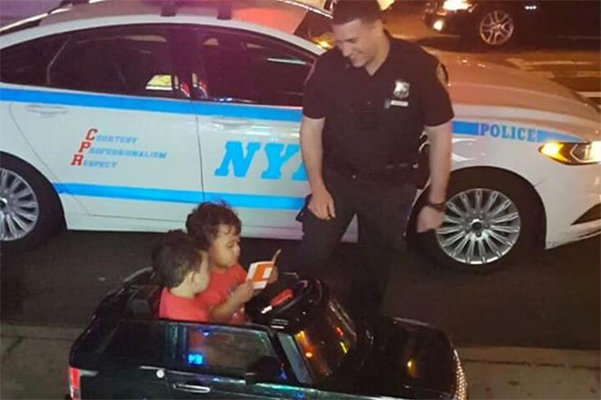 toddlers pulled over nypd